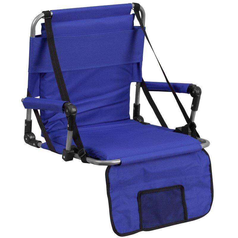 Flash Furniture Folding Stadium Chair in Blue