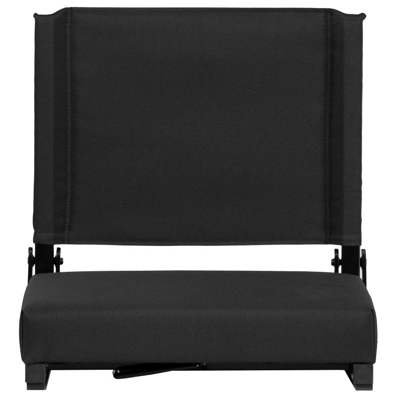 Flash Furniture Game Day Seats by Flash with Ultra-Padded Seat in Black