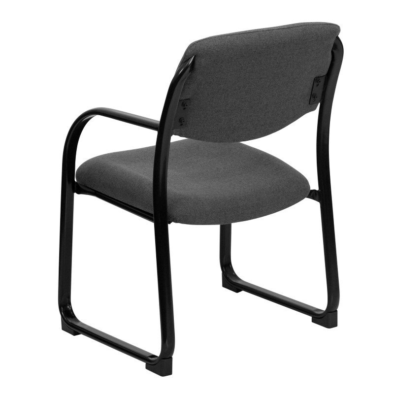 Flash Furniture Gray Fabric Executive Side Chair with Sled Base