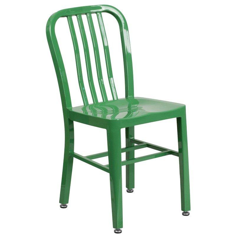 Flash Furniture Green Metal Indoor-Outdoor Chair