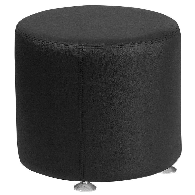 "Flash Furniture HERCULES Alon Series Black Leather 18"" Round Ottoman (ZB-803-RD-18-BK-GG)"
