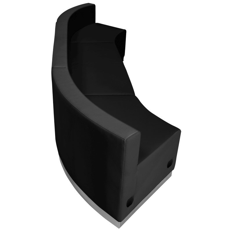 Flash Furniture HERCULES Alon Series Black Leather Reception Configuration 3 Pieces