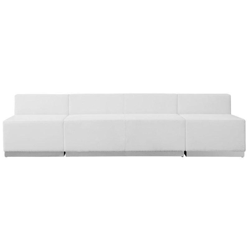 Flash Furniture HERCULES Alon Series White Leather Reception Configuration -(3 Pieces)