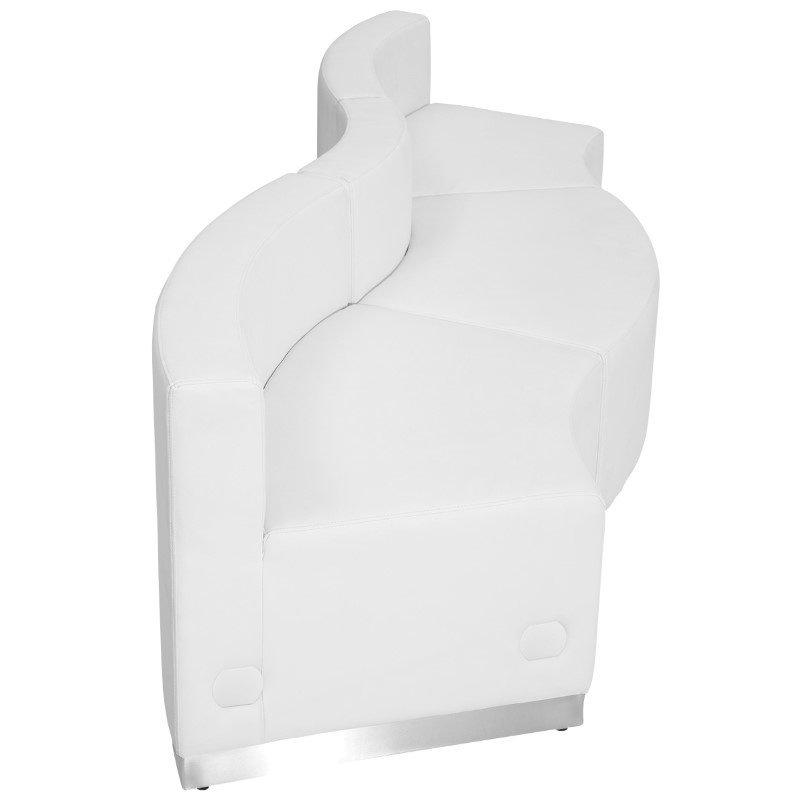 Flash Furniture HERCULES Alon Series White Leather Reception Configuration -3Pieces