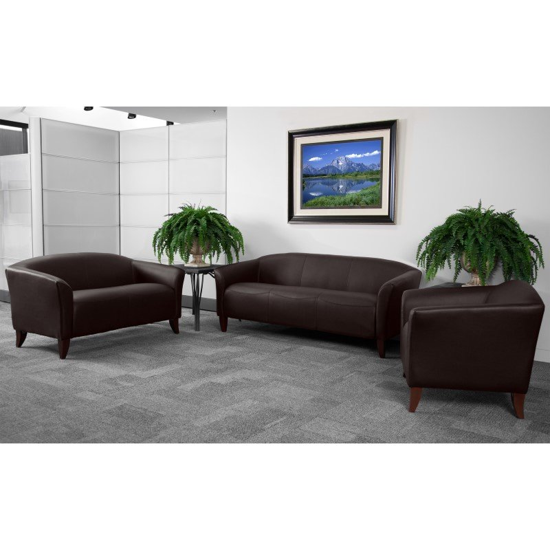 Flash Furniture HERCULES Imperial Series Brown Leather Chair