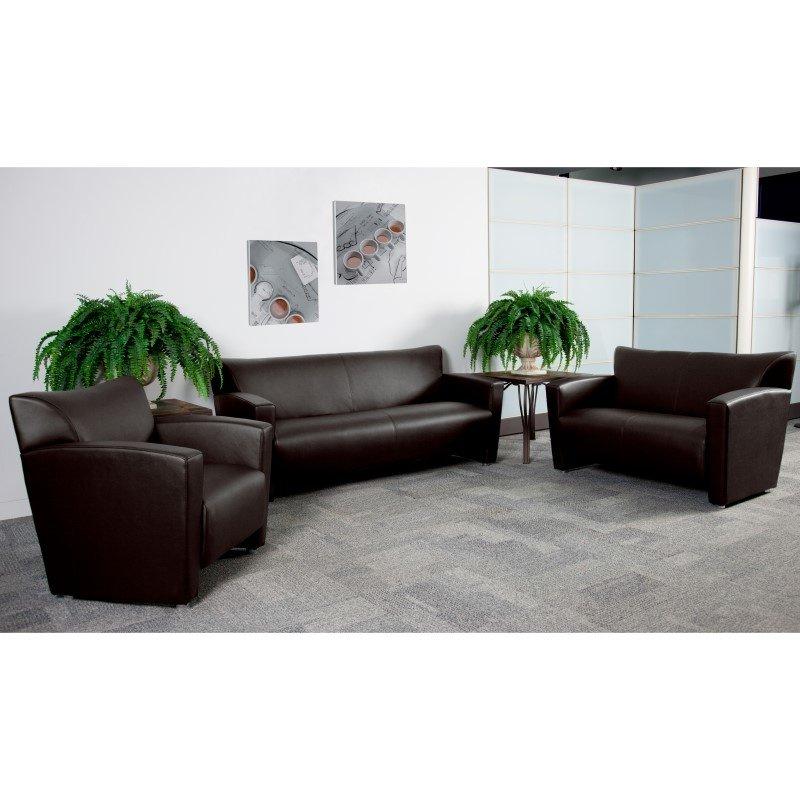 Flash Furniture HERCULES Majesty Series Reception Set in Brown