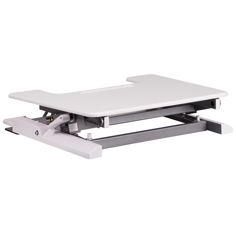 """Flash Furniture HERCULES Series 28.25""""W White Sit / Stand Height Adjustable Desk with Height Lock Feature and Keyboard Tray (JE-JN-LD02-S-W-GG)"""