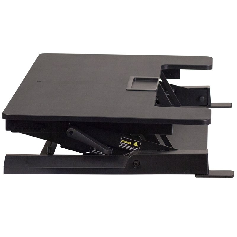 """Flash Furniture HERCULES Series 36.25""""W Black Sit / Stand Height Adjustable Desk with Height Lock Feature and Keyboard Tray (JE-JN-LD02-A1-B-GG)"""