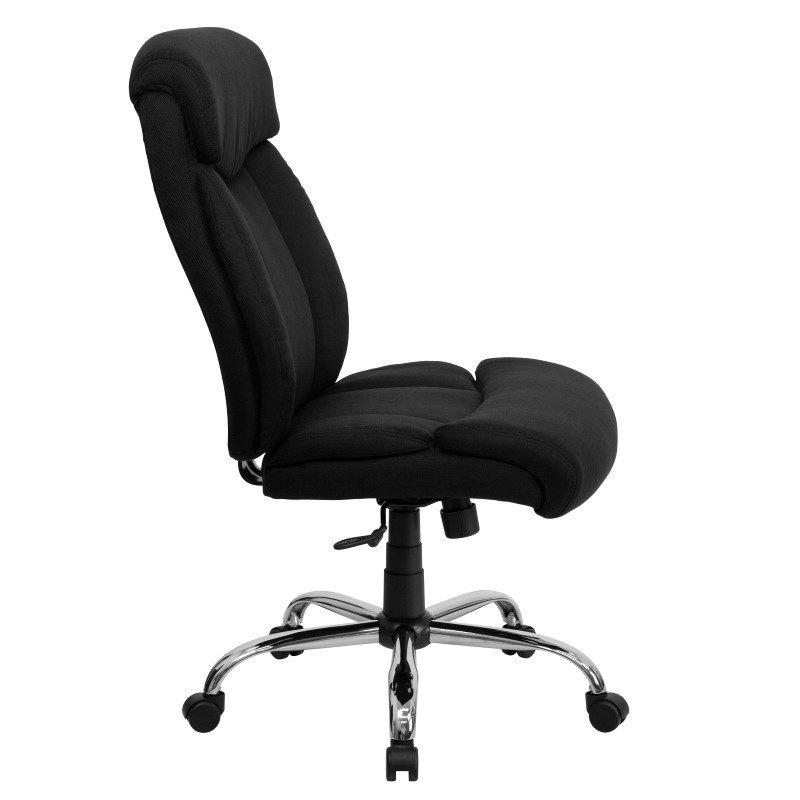 Flash Furniture HERCULES Series 400 lb. Capacity Big & Tall Black Fabric Executive Swivel Office Chair