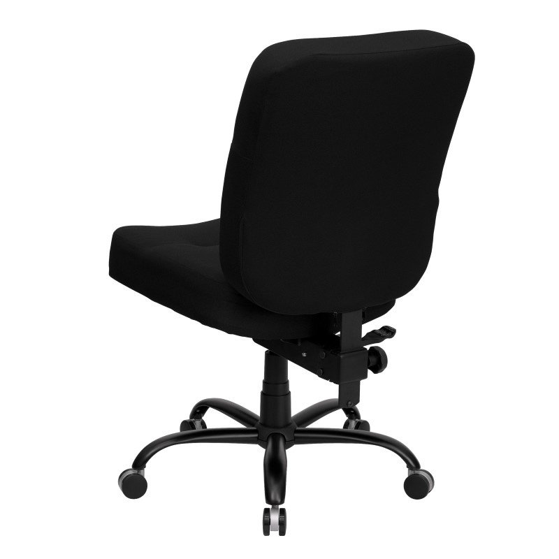 Flash Furniture HERCULES Series 400 lb. Capacity Big & Tall Black Fabric Executive Swivel Office Chair with Extra WIDE Seat