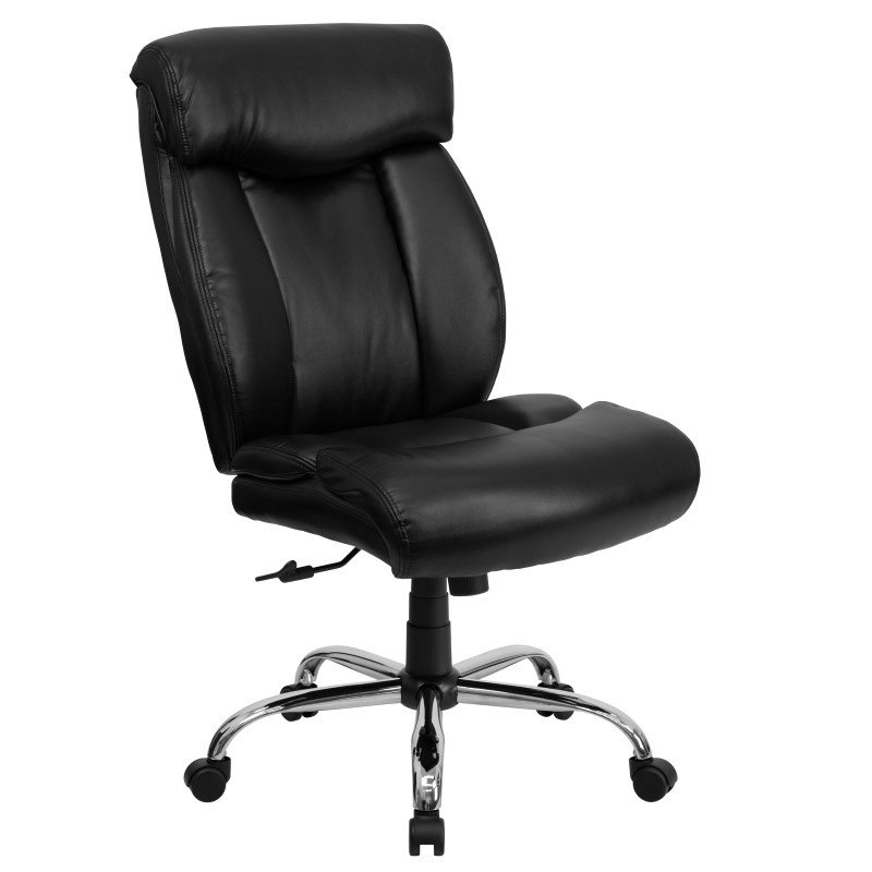 Flash Furniture HERCULES Series 400 lb. Capacity Big & Tall Black Leather Executive Swivel Office Chair