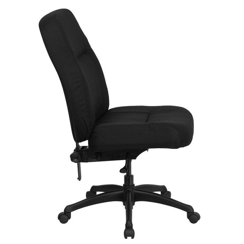 Flash Furniture HERCULES Series 400 lb. Capacity High Back Big & Tall Black Fabric Executive Swivel Office Chair with Extra WIDE Seat