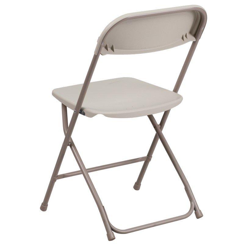 Flash Furniture HERCULES Series 800 lb. Capacity Premium Beige Plastic Folding Chair