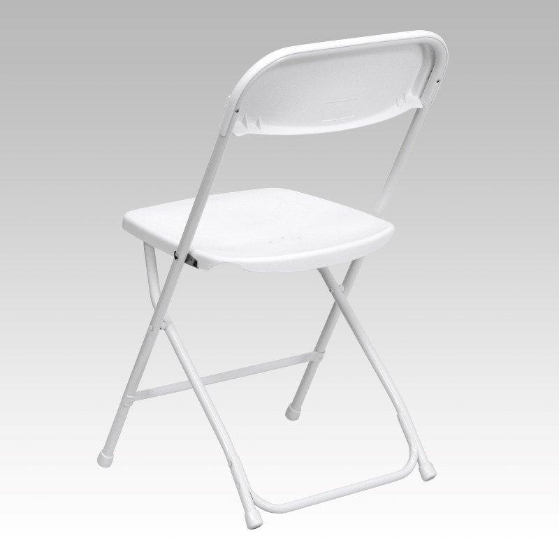 Flash Furniture HERCULES Series 800 lb. Capacity Premium White Plastic Folding Chair