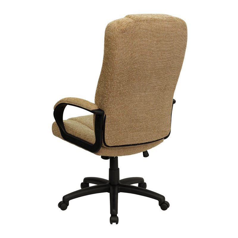 Flash Furniture High Back Beige Fabric Executive Swivel Office Chair