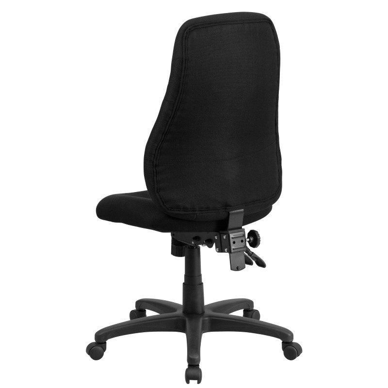 Flash Furniture High Back Black Fabric Multi-Functional Ergonomic Swivel Task Chair