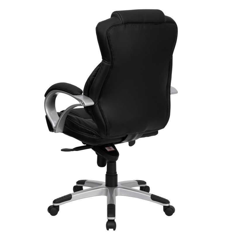 Flash Furniture High -Back Black Leather' Contemporary Executive Swivel Office Chair