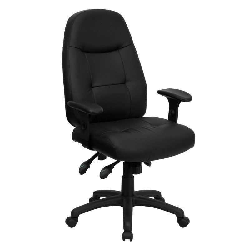 Flash Furniture High Back Black-Leather Executive Swivel Office Chair