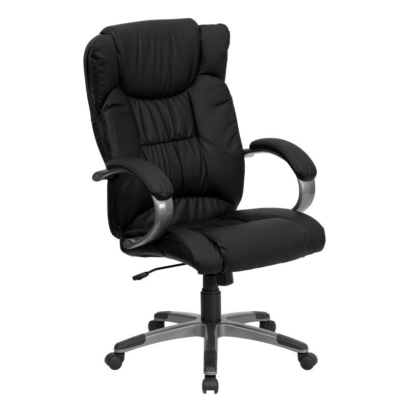 Flash Furniture High'Back Black Leather Executive Swivel Office Chair