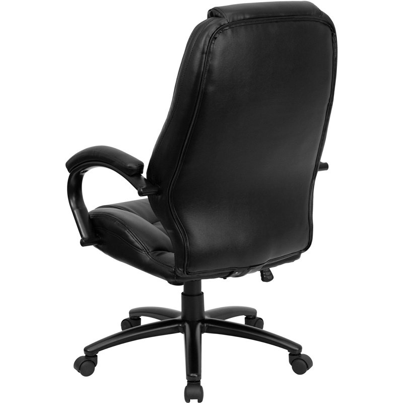Flash Furniture High-Back Black' Leather Executive Swivel Office Chair