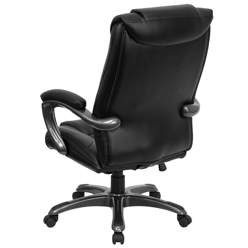 Flash Furniture High Back Black Leather' Executive Swivel Office Chair