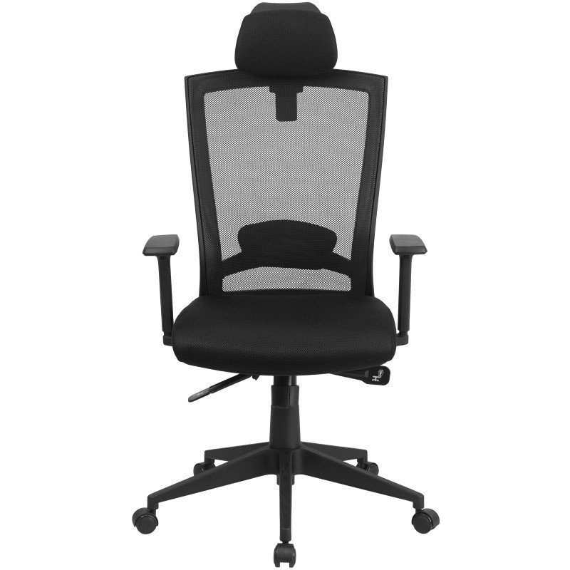 Flash Furniture High Back Black Mesh Executive Swivel Office Chair with Back Angle Adjustment