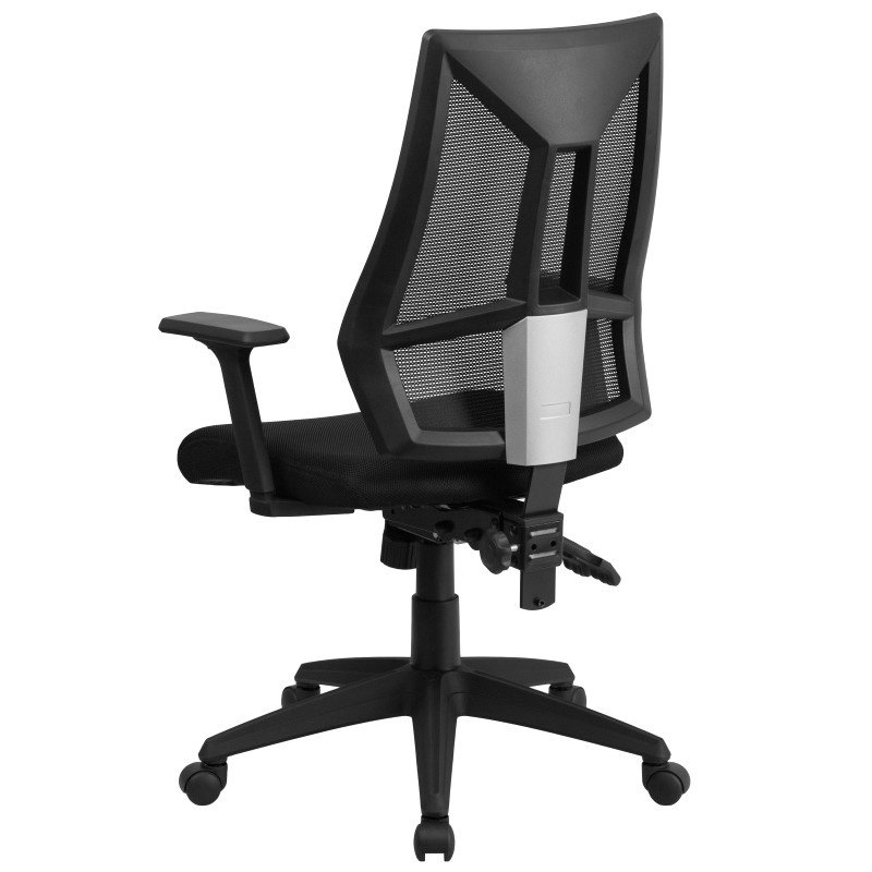 Flash Furniture High Back Black Mesh Swivel Task Chair with Triple Paddle Control