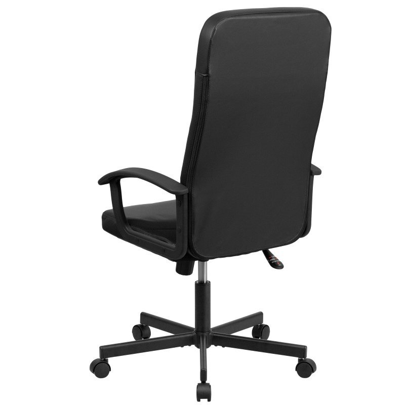 Flash Furniture High Back Black Vinyl and Black Mesh Racing Executive Swivel Office Chair