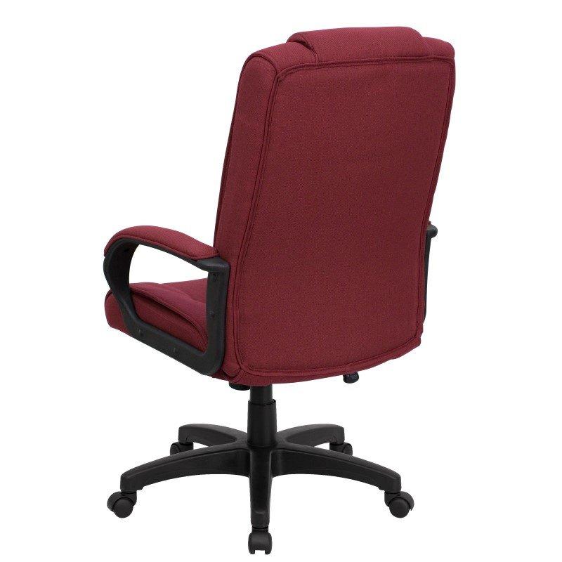 Flash Furniture High Back Burgundy Fabric Executive Swivel Office Chair
