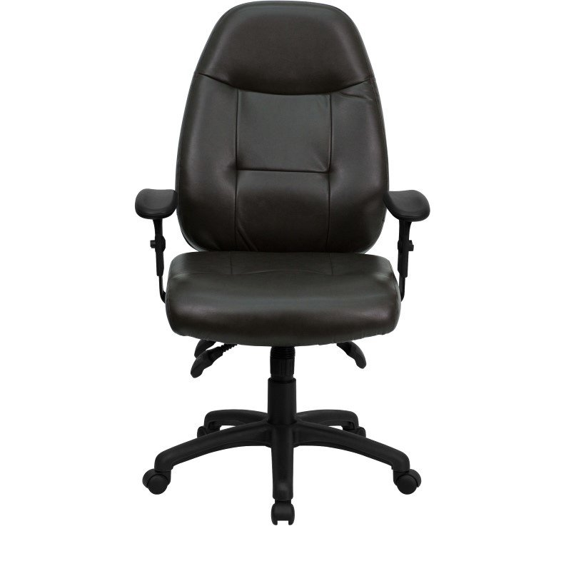 Flash Furniture High Back Espresso-Brown Leather Executive Swivel Office Chair