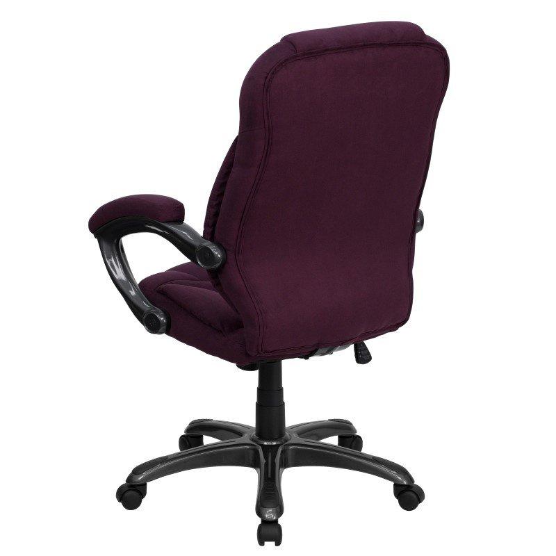 Flash Furniture High Back Grape Microfiber Contemporary Executive Swivel Office Chair