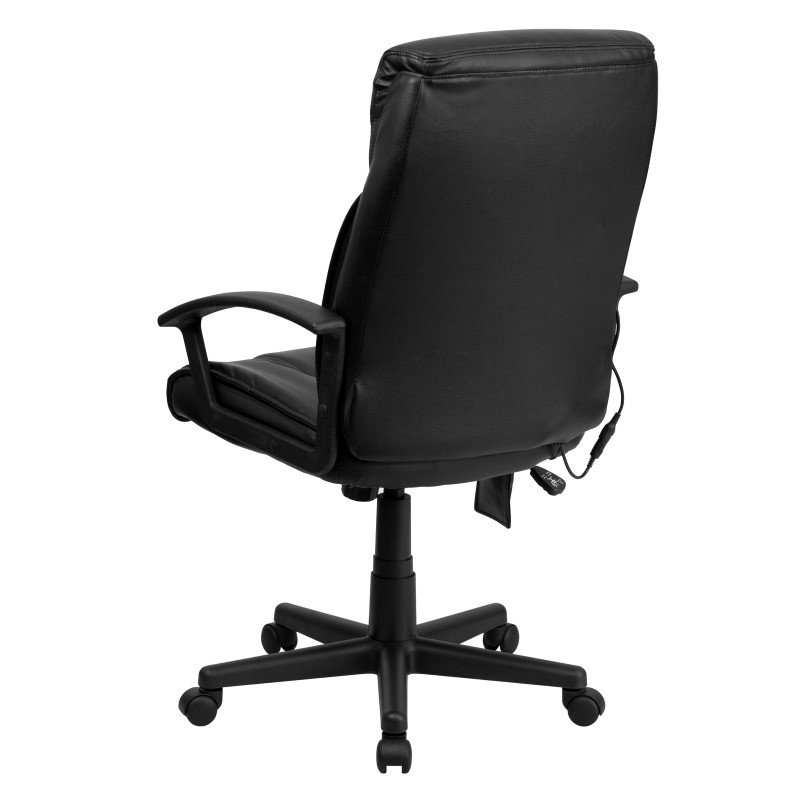 Flash Furniture High-Back Massaging Black Leather Executive Swivel Office Chair