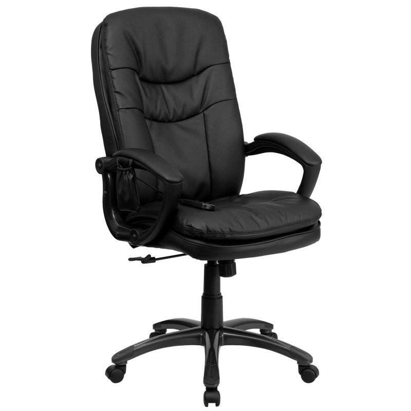 Flash Furniture High Back Massaging Black Leather Executive Swivel Office Chair