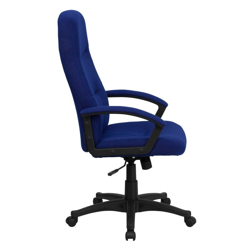 Flash Furniture High Back Fabric Executive Swivel Office Chair in Navy Blue