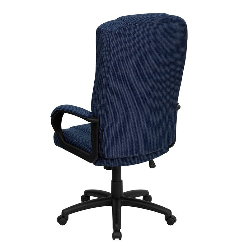 Flash Furniture High Back Navy Blue Fabric Executive Swivel Office Chair