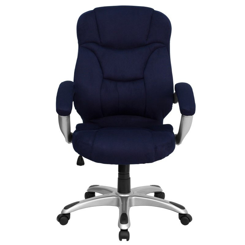 Flash Furniture High Back Navy Blue Microfiber Contemporary Executive Swivel Office Chair