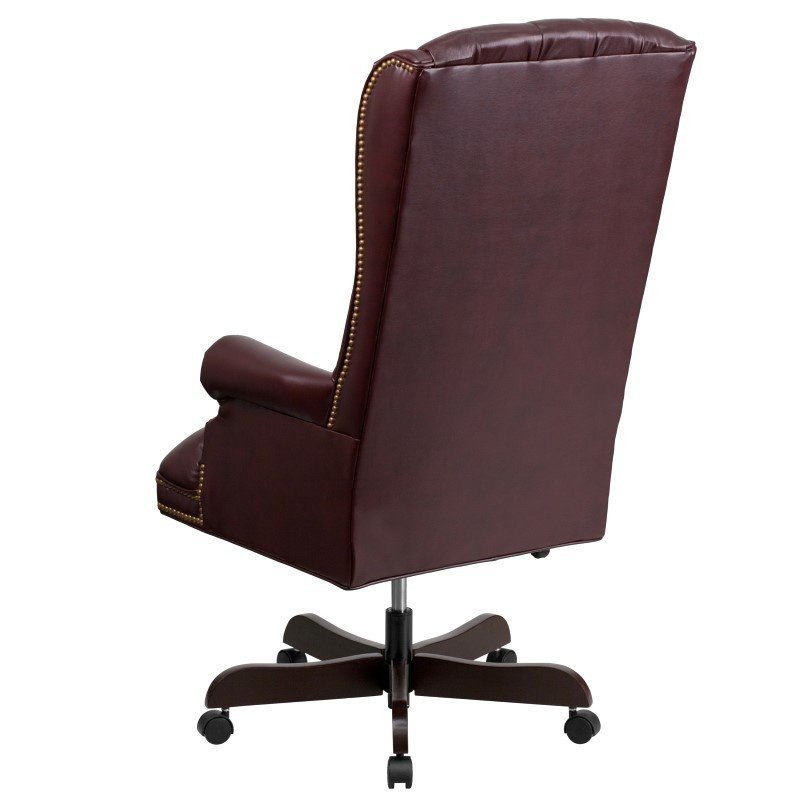 Flash Furniture High-Back Traditional Tufted Burgundy Leather Executive Swivel Office Chair