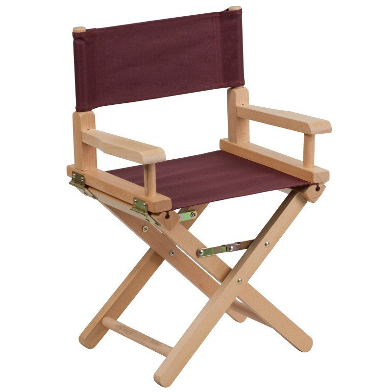 Flash Furniture Kid Size Directors Chair in Brown