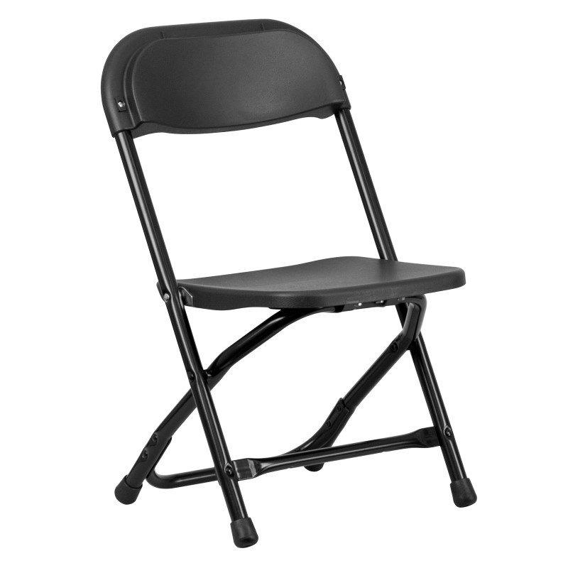 Flash Furniture Kids Black Plastic Folding Chair
