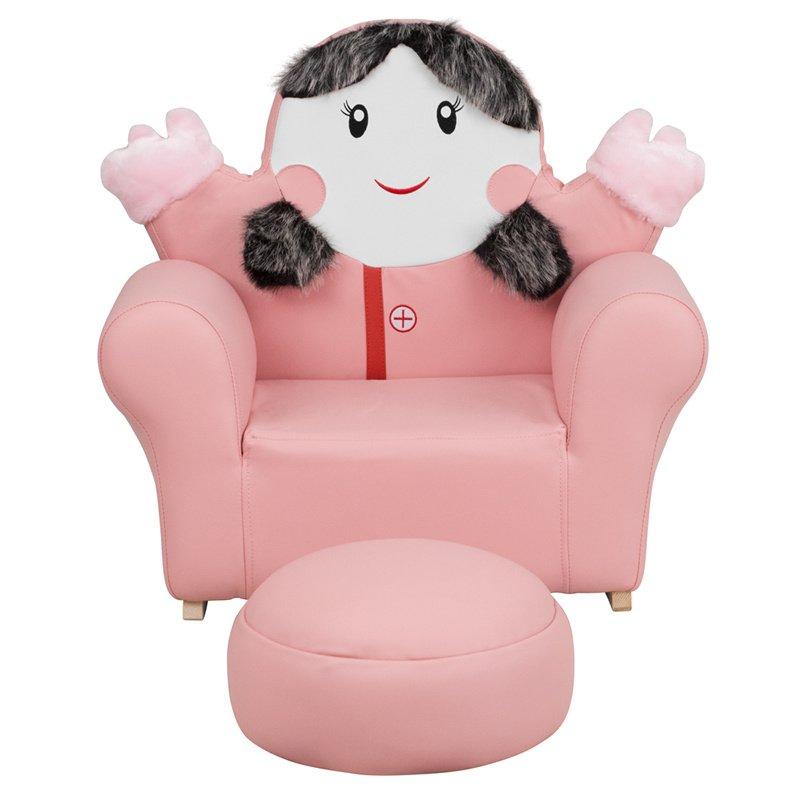 Flash Furniture Kids Pink Little Girl, Little Girl Furniture