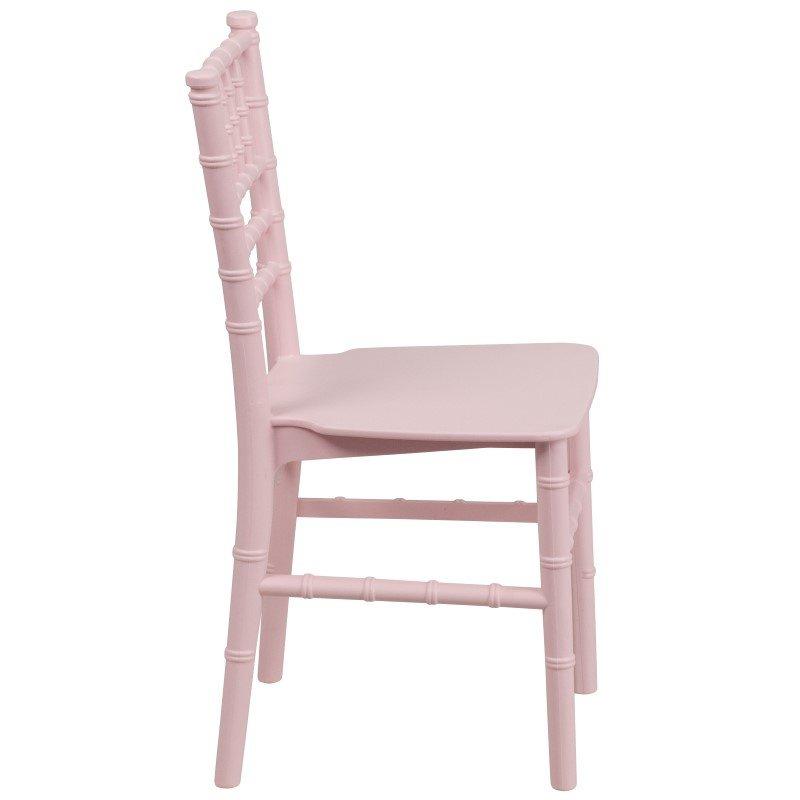 Flash Furniture Kids Pink Resin Chiavari Chair
