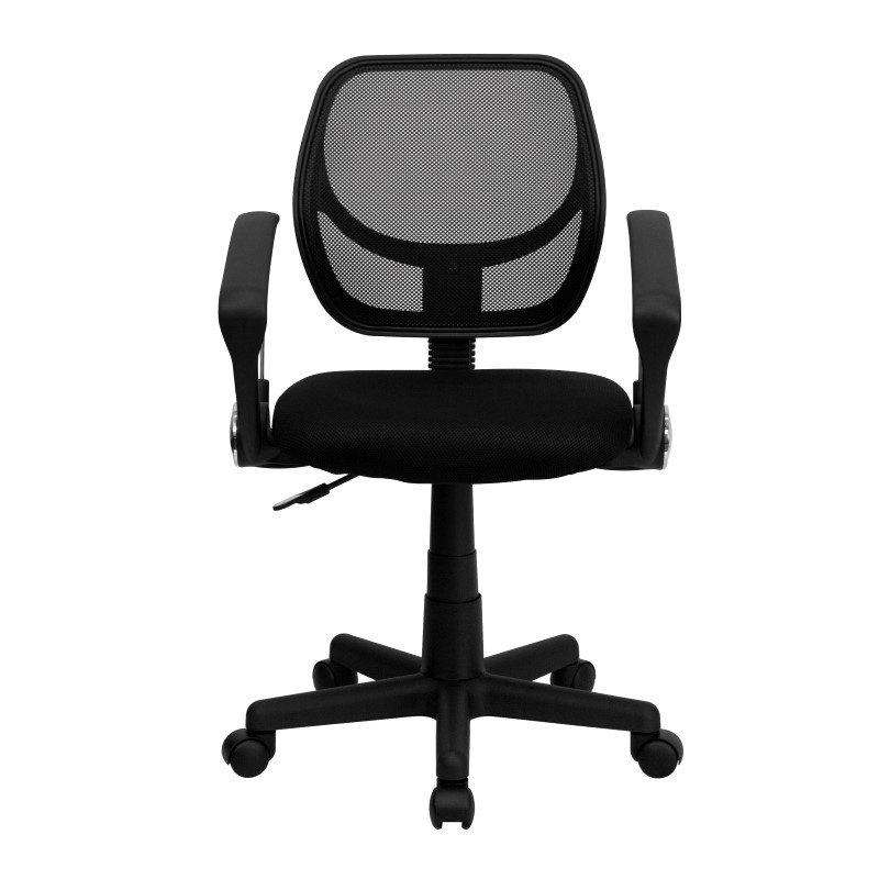 Flash Furniture Low Back Black Mesh Swivel Task Chair with Arms
