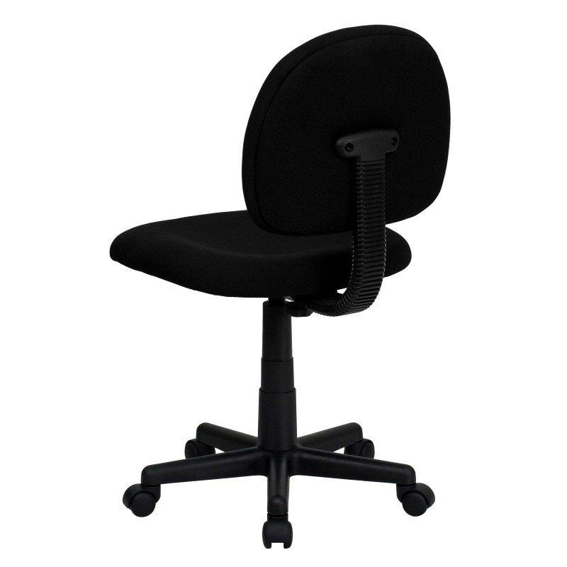 Flash Furniture Low Back Ergonomic Black Fabric Swivel Task Chair