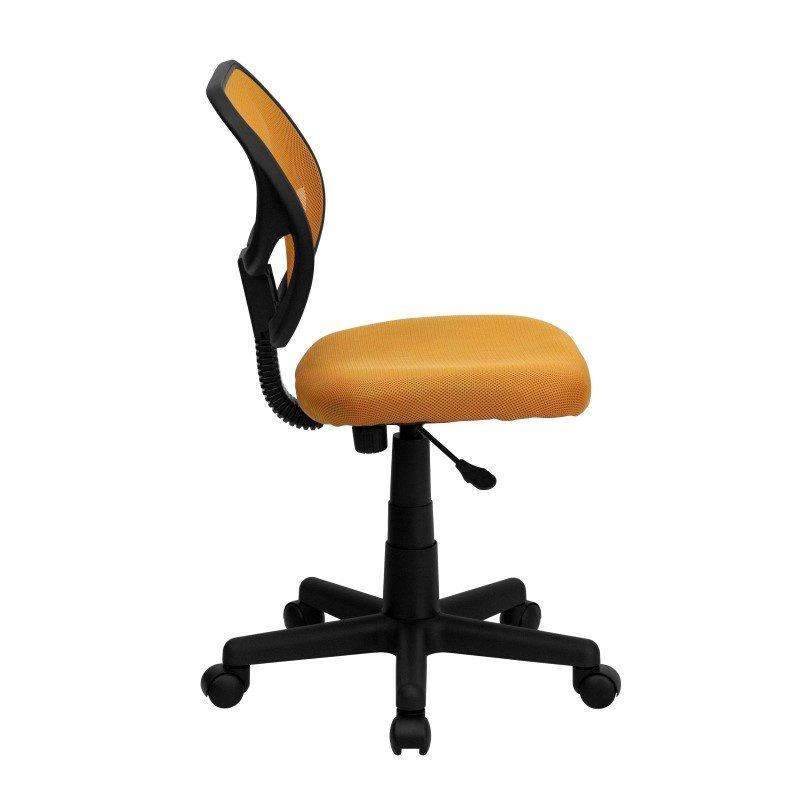 Flash Furniture Low Back Orange Mesh Swivel Task Chair