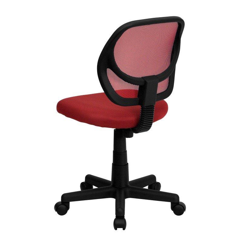 Flash Furniture Low Back Red Mesh Swivel Task Chair