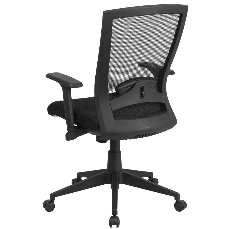 Flash Furniture Mid-Back Black Mesh Executive Swivel Office Chair with Back Angle Adjustment