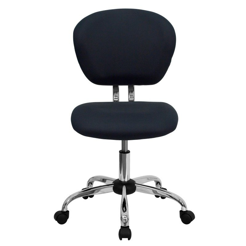 Flash Furniture Mid-Back Gray Mesh' Swivel Task Chair with Chrome Base