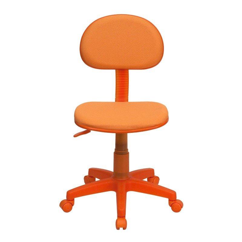 Flash Furniture Orange Fabric Ergonomic Swivel Task Chair