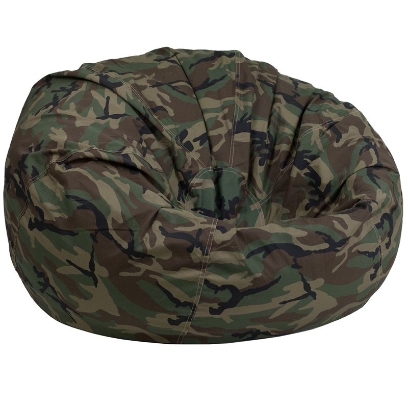 Flash Furniture Oversized Camouflage Kids Bean Bag Chair (DG-BEAN-LARGE-CAMO-GG)