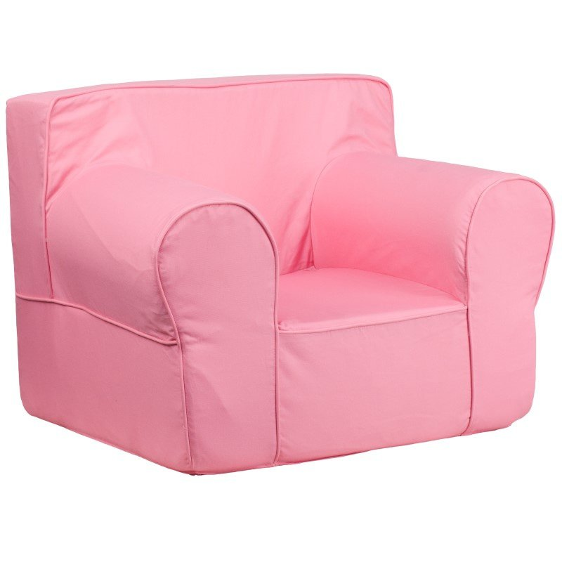 Flash Furniture Oversized Solid Light Pink Kids Chair